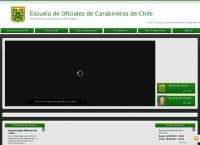 Sitio web de Escuela de Carabineros de Chile