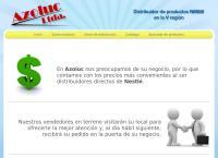 Sitio web de comercial azoluc limitada
