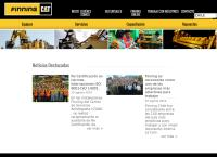 Sitio web de Finning - Sucursal Punta Arenas