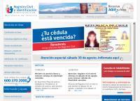 Sitio web de Servicio de Registro Civil - Sucursal Los Andes