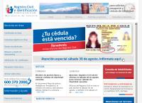 Sitio web de SERVICIO DE REGISTRO CIVIL - SUCURSAL CALERA DE TANGO
