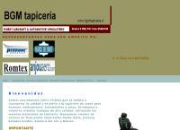 Sitio web de BGM tapiceria