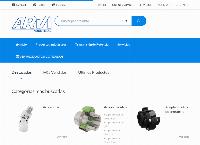 Sitio web de Arvi Industrial SpA