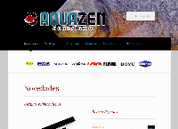 Sitio web de Aquazen Acuarismo